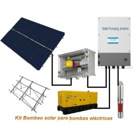 Kit bombeo solar hasta 3 CV monofásico