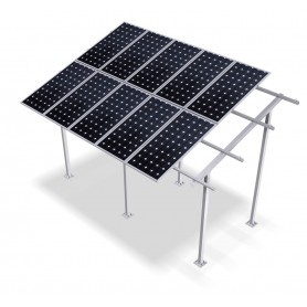 Estrtuctura aluminio 4 paneles elevada 2,9mts. 30º