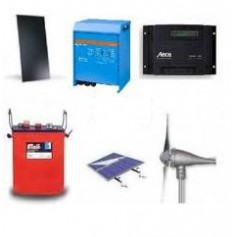Kit Híbrido Solar Eólico 3000W