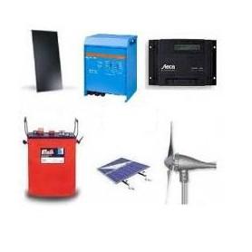 Kit Híbrido Solar Eólico 2400W