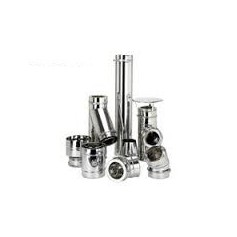 Kit chimenea pellets INOX. pared simple