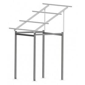 Estrtuctura aluminio 10 paneles elevada 2,9mts. 30º