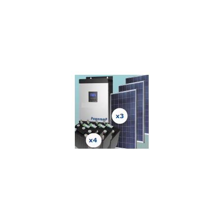 Kit fotovoltaico 1500w uso continuo