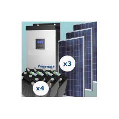 Kit fotovoltaico 1500 w/día uso continuo