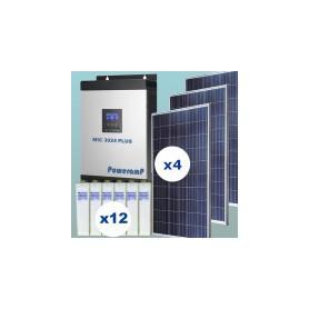 Kit fotovoltaico 3000w/día uso continuo