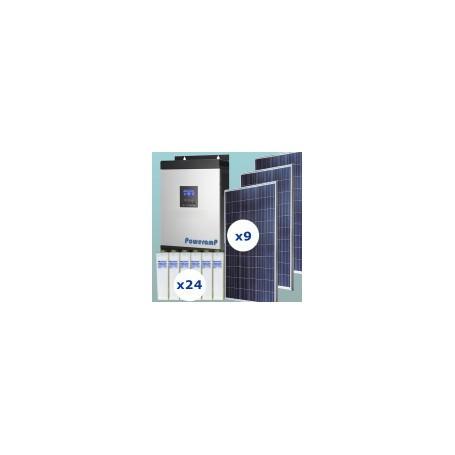 Kit fotovoltaico 6000w/día uso continuo