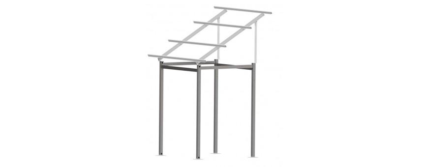 Estructura aluminio elevada